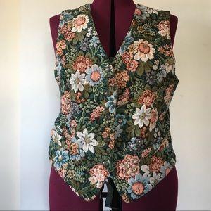 VTG 90's Floral Tapestry Vest